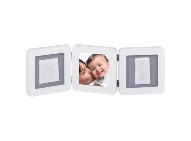 """Рамочка тройная """"Модерн"""" с 1 цветной подложкой; белый, фото"""