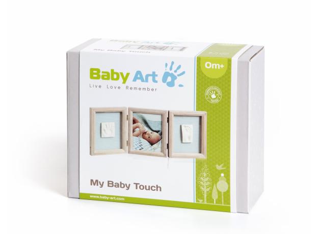 Рамочка тройная Baby Art «Классика»; беленое дерево, фото , изображение 2