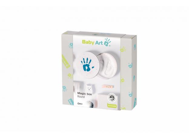 Коробочка для создания отпечатка Baby Art «Мэджик бокс» круглая, фото , изображение 4