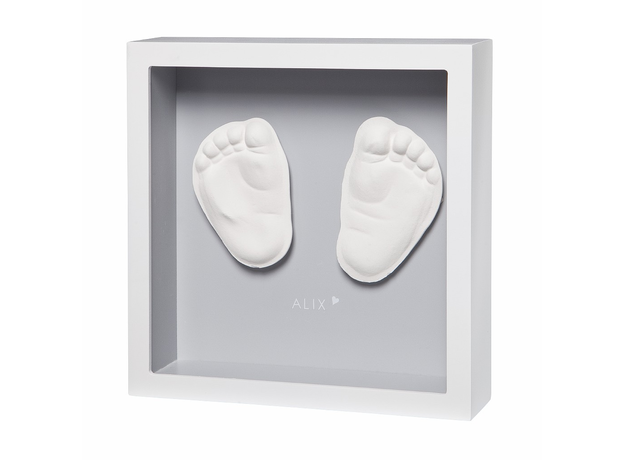 Рамочка с объемным слепком Baby Art «Классика»; светло-серый, фото