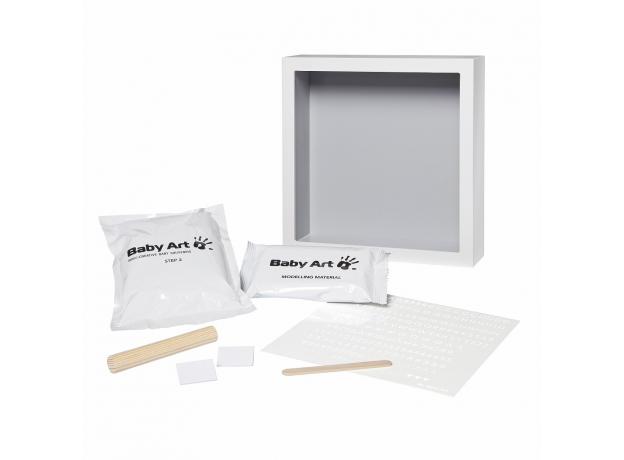 Рамочка с объемным слепком Baby Art «Классика»; светло-серый, фото , изображение 2