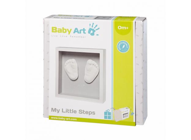 Рамочка с объемным слепком Baby Art «Классика»; светло-серый, фото , изображение 3