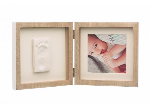 Рамочка двойная Baby Art с отпечатком; беленое дерево, фото , изображение 2