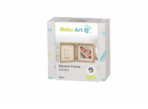 Рамочка двойная Baby Art с отпечатком; беленое дерево, фото , изображение 4