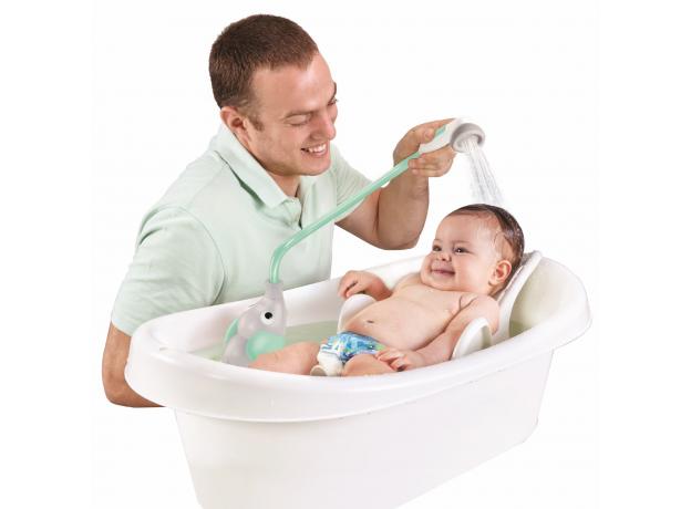 Игрушка для ванны Yookidoo душ «Слоненок»; серый с мятным, фото , изображение 3