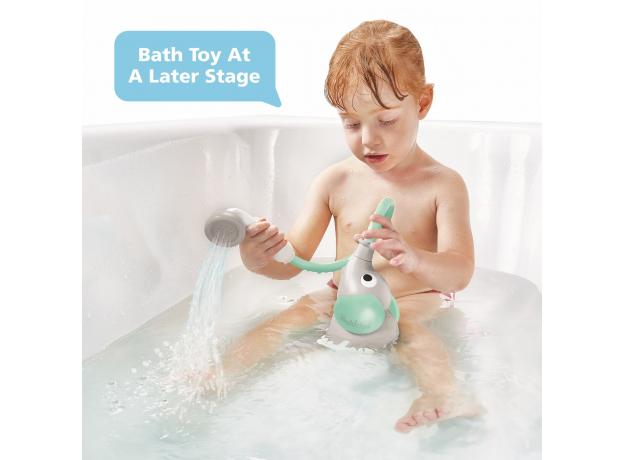 Игрушка для ванны Yookidoo душ «Слоненок»; серый с мятным, фото , изображение 6