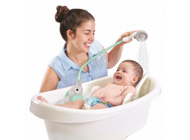 Игрушка для ванны Yookidoo душ «Слоненок»; серый с мятным, фото , изображение 7