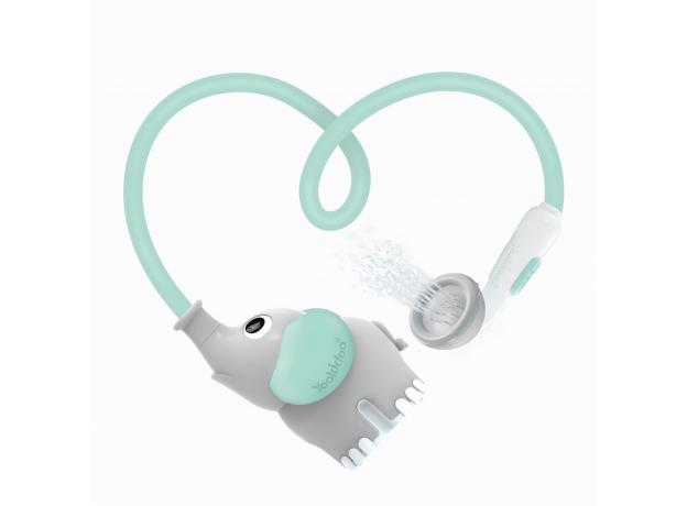 Игрушка для ванны Yookidoo душ «Слоненок»; серый с мятным, фото , изображение 8