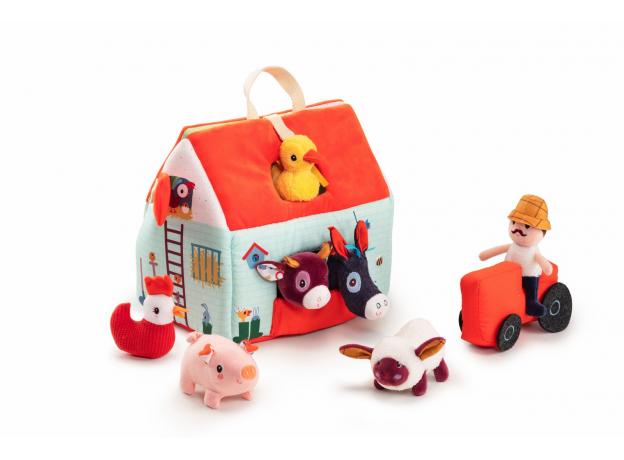 Набор мягких игрушек Lilliputiens «На ферме», фото , изображение 4