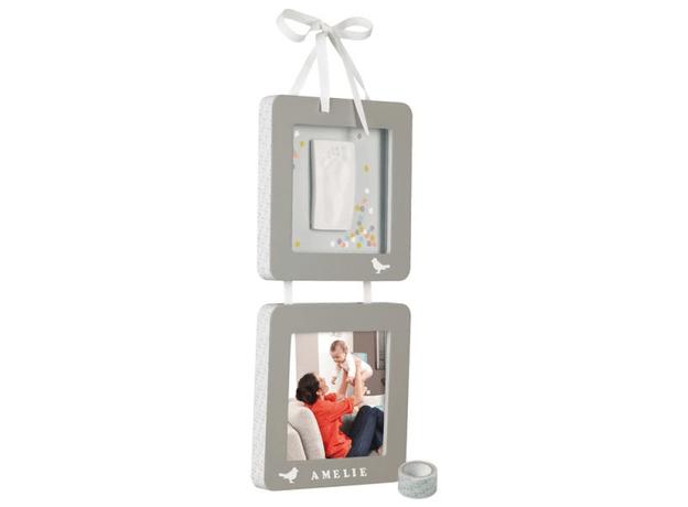 Рамочка двойная Подвесканая Baby Art «Мой птенчик» серая, фото