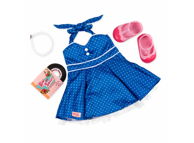 Комплект одежды для куклы Our Generation с виниловым диском, фото