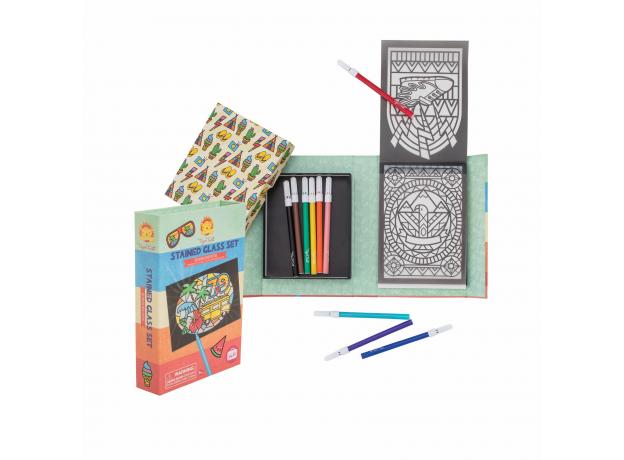 Набор для создания витражных рисунков Tiger Tribe «Солнечный день», фото