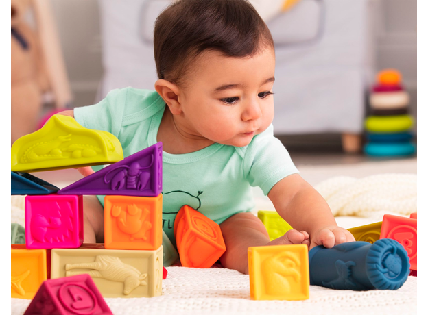 Набор кубиков и других форм B.Toys (Battat) «Elemnosqueeze», фото