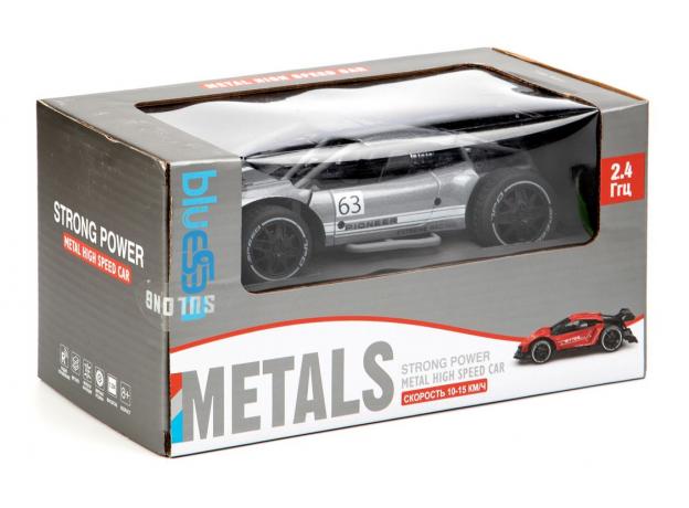 """Машинка """"PIONEER"""", металлическая, радиоуправляемая, 1:24 (Серебристый), фото , изображение 2"""