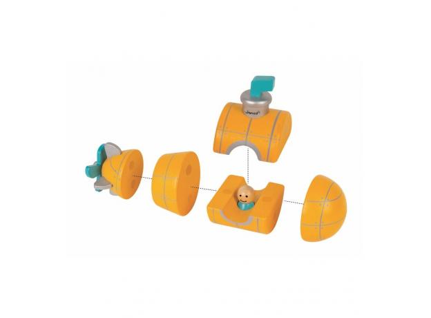 Магнитный конструктор Janod «Подводная лодка», фото , изображение 2