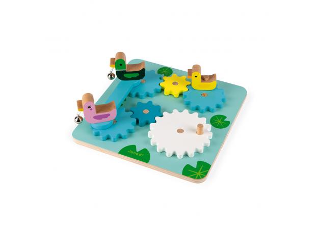 Развивающая игрушка с шестеренками Janod «Утиный пруд», фото