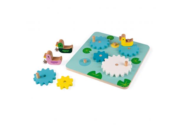 Развивающая игрушка с шестеренками Janod «Утиный пруд», фото , изображение 2