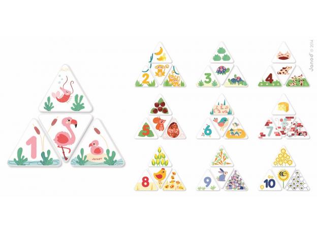 Настольная игра Janod «Математика в картинках», фото , изображение 2