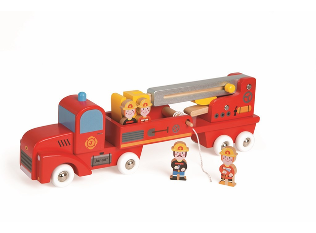 Большая пожарная машина Janod с 4 пожарными, фото , изображение 7
