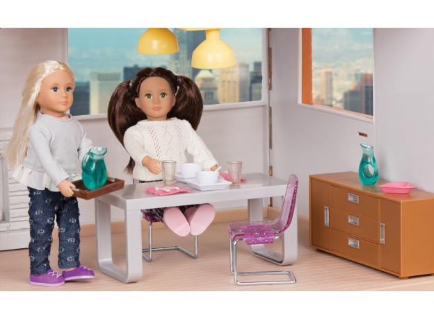 Дом для куклы с аксессуарами; пластмассовый, фото , изображение 4