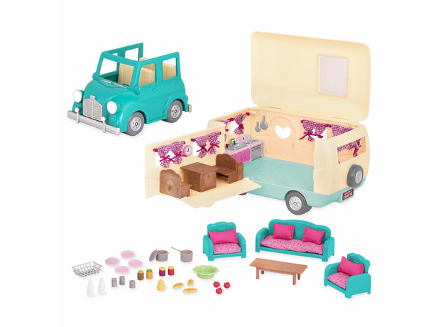 """Набор игровой """"Дом на колёсах"""" с аксессуарами голубой, фото , изображение 6"""