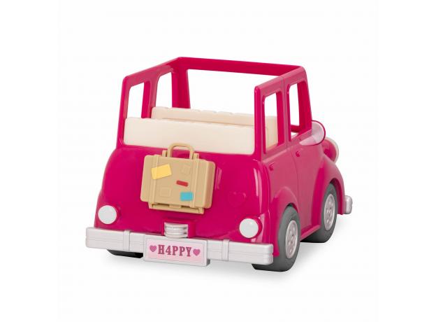 Машина с чемоданом Li'l Woodzeez; розовый, фото , изображение 3