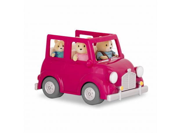 Машина с чемоданом Li'l Woodzeez; розовый, фото , изображение 7