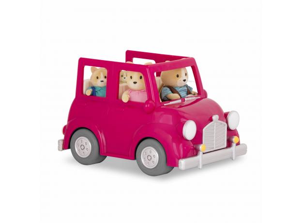 Машина с чемоданом Li'l Woodzeez; розовый, фото , изображение 8