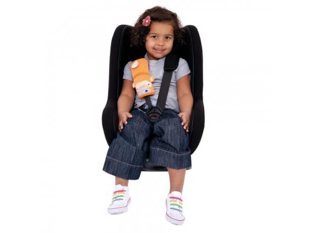 TRUNKI Накладка-чехол для ремня безопасности в авто, обезьянка, оранжевый 0107-GB01, фото , изображение 2