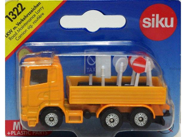 SIKU Грузовик с дорожными знаками 1323, фото , изображение 4