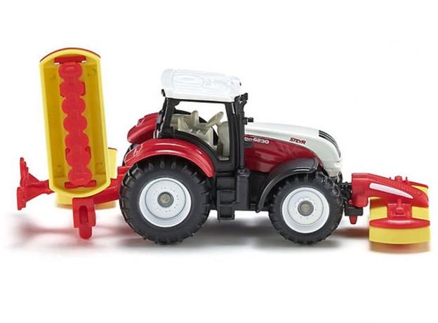 SIKU Трактор с косилками 1672, фото , изображение 4