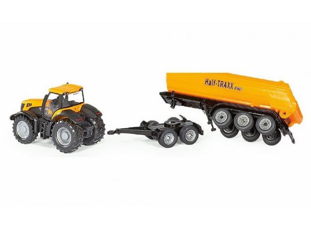 SIKU Трактор с прицепом-кузовом, желт. (1:87) 1858, фото , изображение 3