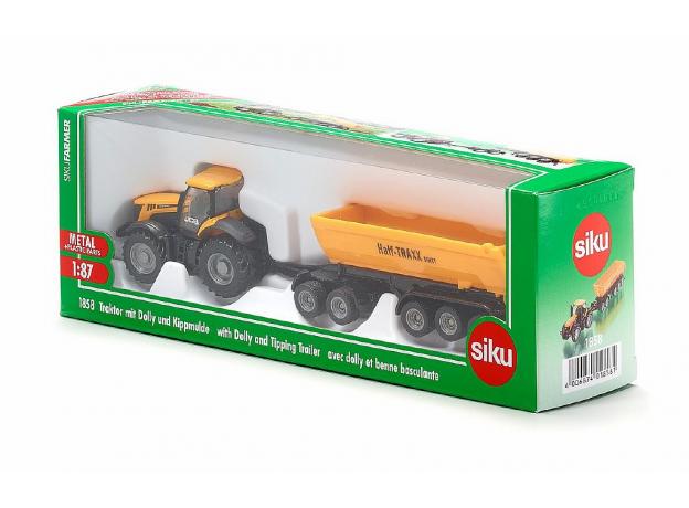 SIKU Трактор с прицепом-кузовом, желт. (1:87) 1858, фото , изображение 4