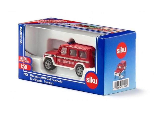SIKU Машина пожарная Mercedes-Benz G65 AMG (1:50) 2307, фото , изображение 4