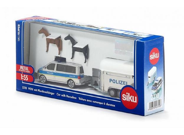 SIKU Полицейская машина с прицепом для лошадей (1:55) 2311, фото , изображение 3