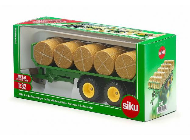 SIKU Прицеп для перевозки круглых кип (1:32) 2891, фото , изображение 2