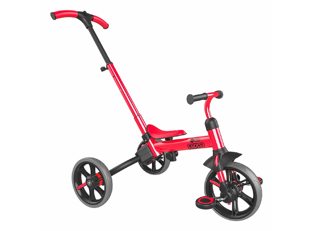 YVolution Беговел-велосипед 4 в 1 YVelo Flippa красный 101186, фото
