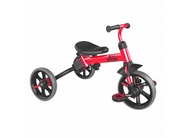 YVolution Беговел-велосипед 4 в 1 YVelo Flippa красный 101186, фото , изображение 3