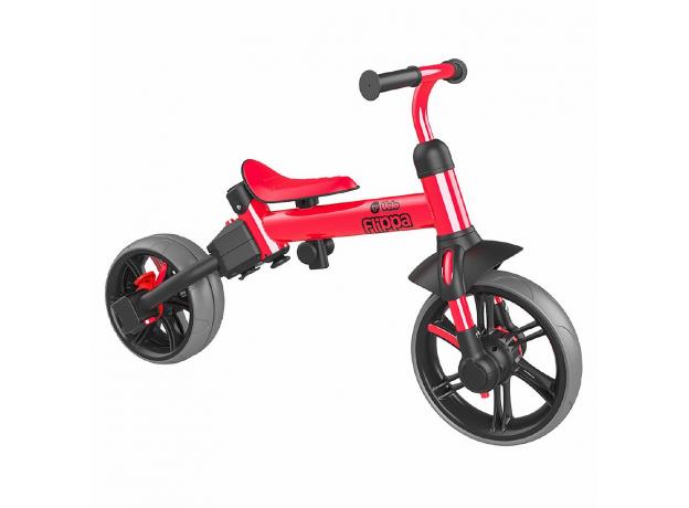 YVolution Беговел-велосипед 4 в 1 YVelo Flippa красный 101186, фото , изображение 4