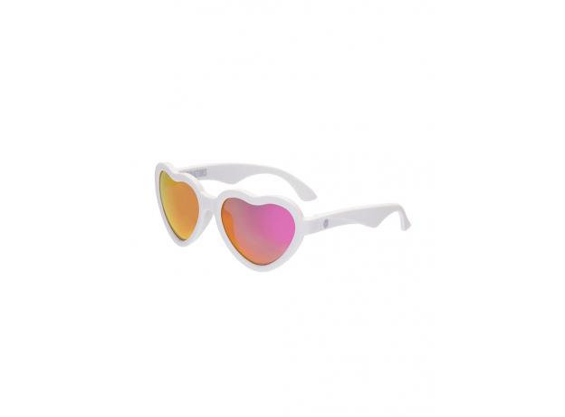 С/з очки Babiators Hearts Влюбляшки (Sweethearts). Белые. Розовые зеркальные. Junior (0-2). Арт. LTD, фото , изображение 2