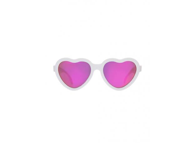 С/з очки Babiators Hearts Влюбляшки (Sweethearts). Белые. Розовые зеркальные. Junior (0-2). Арт. LTD, фото , изображение 3