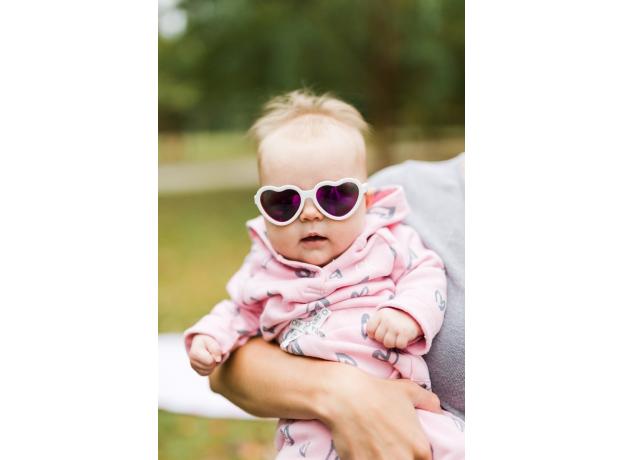 С/з очки Babiators Hearts Влюбляшки (Sweethearts). Белые. Розовые зеркальные. Junior (0-2). Арт. LTD, фото , изображение 10