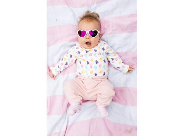 С/з очки Babiators Hearts Влюбляшки (Sweethearts). Белые. Розовые зеркальные. Junior (0-2). Арт. LTD, фото , изображение 11