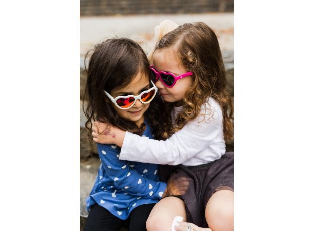 С/з очки Babiators Hearts Влюбляшки (Sweethearts). Белые. Розовые зеркальные. Junior (0-2). Арт. LTD, фото , изображение 12