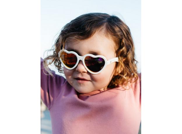 С/з очки Babiators Hearts Влюбляшки (Sweethearts). Белые. Розовые зеркальные. Junior (0-2). Арт. LTD, фото , изображение 8