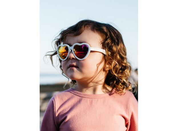 С/з очки Babiators Hearts Влюбляшки (Sweethearts). Белые. Розовые зеркальные. Junior (0-2). Арт. LTD, фото , изображение 9