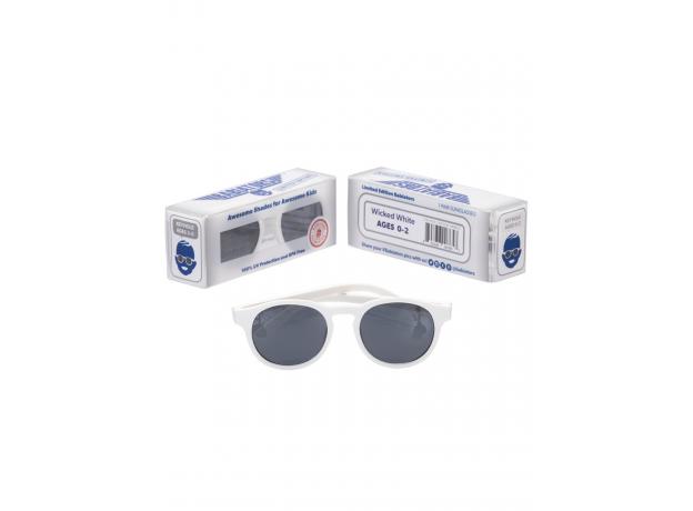 С/з очки Babiators Original Keyhole. Шаловливый белый (Wicked White). Белые. Дымчатые. Junior (0-2)., фото , изображение 5
