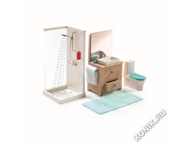 DJECO Мебель для кукольного дома Ванна 07825, фото , изображение 3
