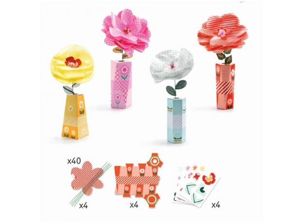 DJECO Набор для творчества Романтичные цветы 07951, фото