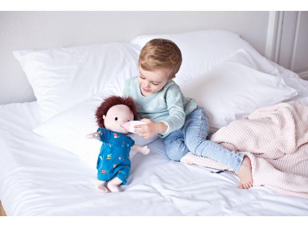 Мягкая кукла с бутылочкой Lilliputiens «Ноа», фото